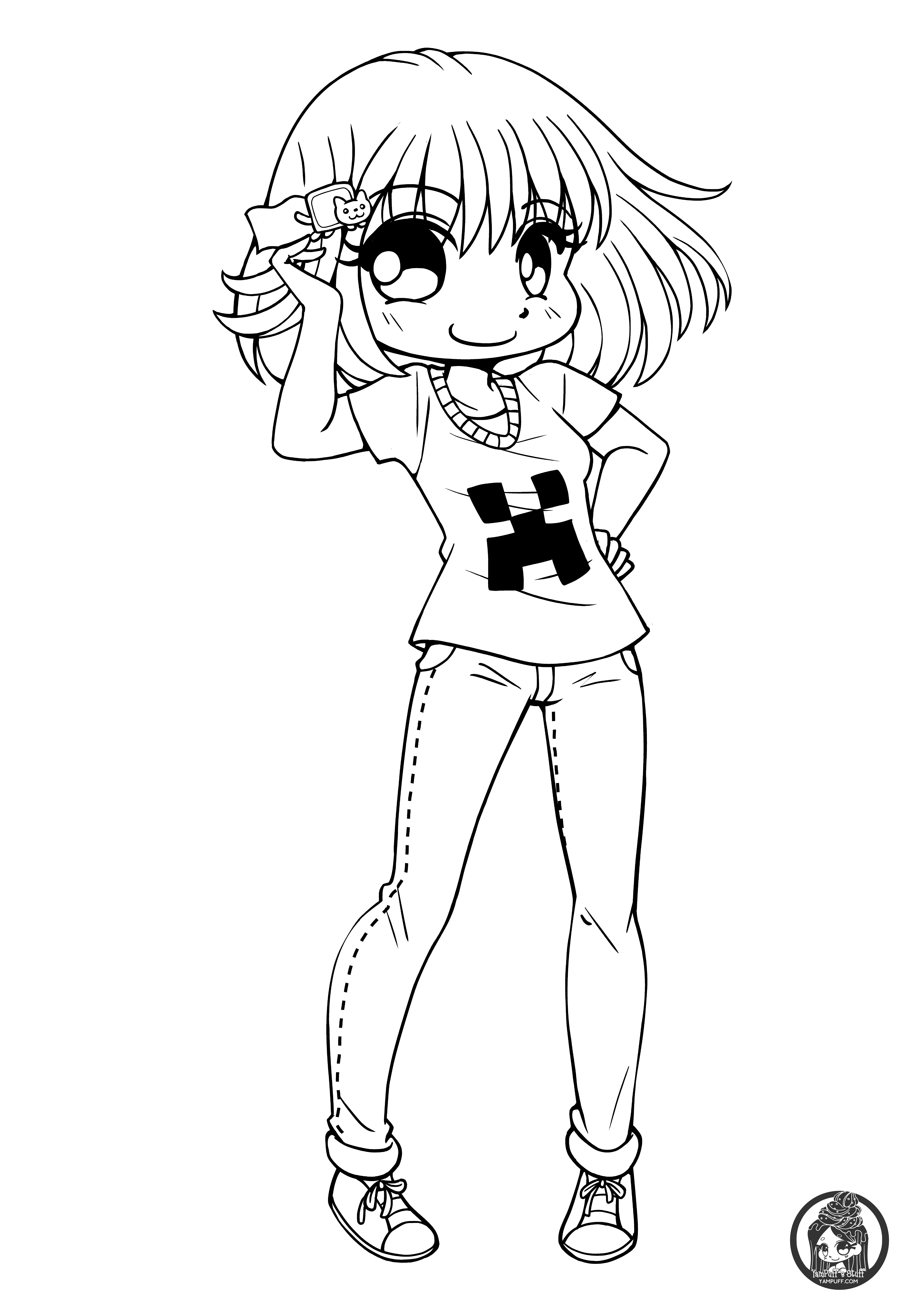 anime coloring pages chibi estel chibi lineart by yampuff on deviantart coloring pages anime chibi