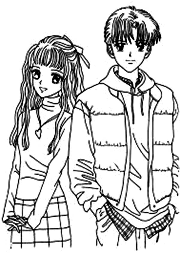anime couple coloring pages to print a couple of angels by gome on deviantart coloring anime print pages couple to