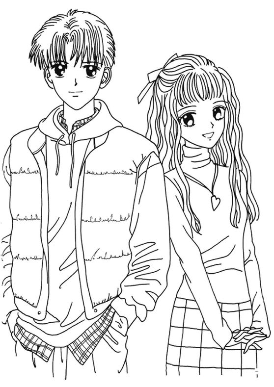 anime couple coloring pages to print anime couple coloring pages coloring pages to download pages print anime coloring to couple