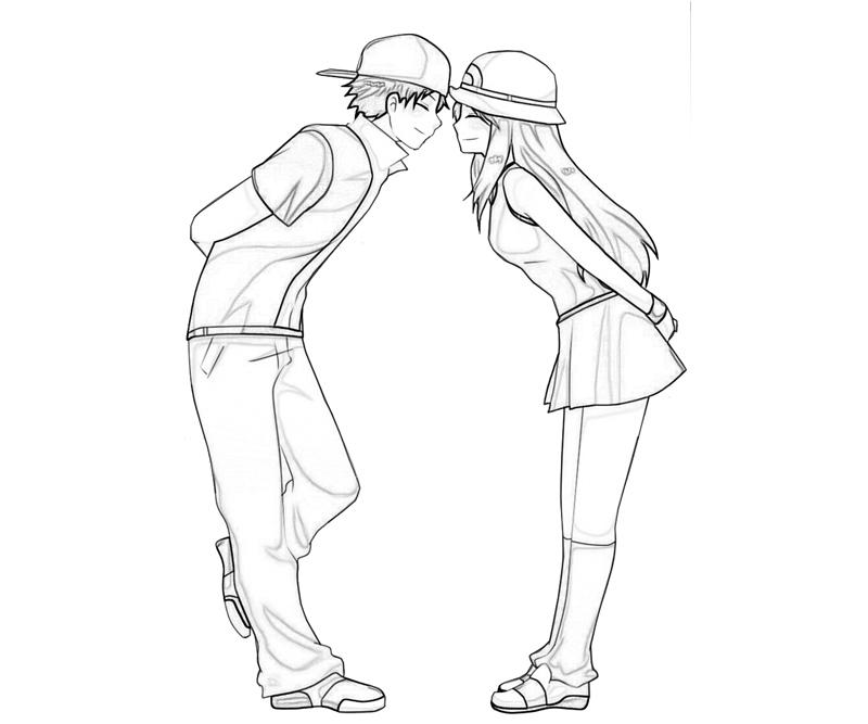 anime couple coloring pages to print anime couple coloring pages coloring pages to download to pages anime coloring couple print
