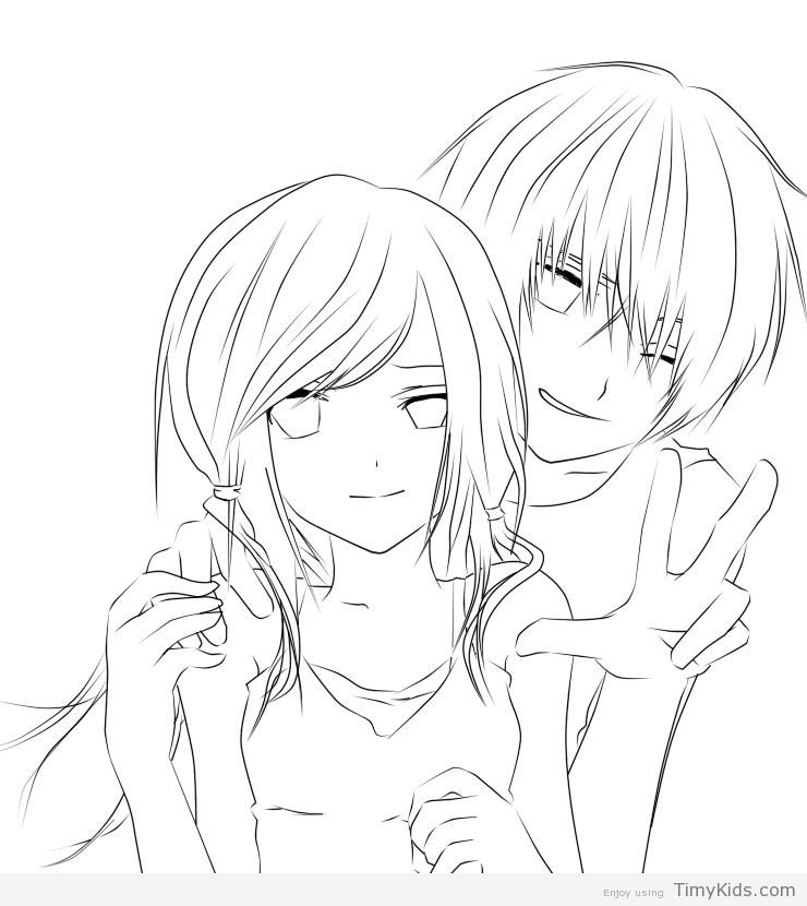 anime couple coloring pages to print anime couple coloring pages coloring pages to download to pages couple anime coloring print
