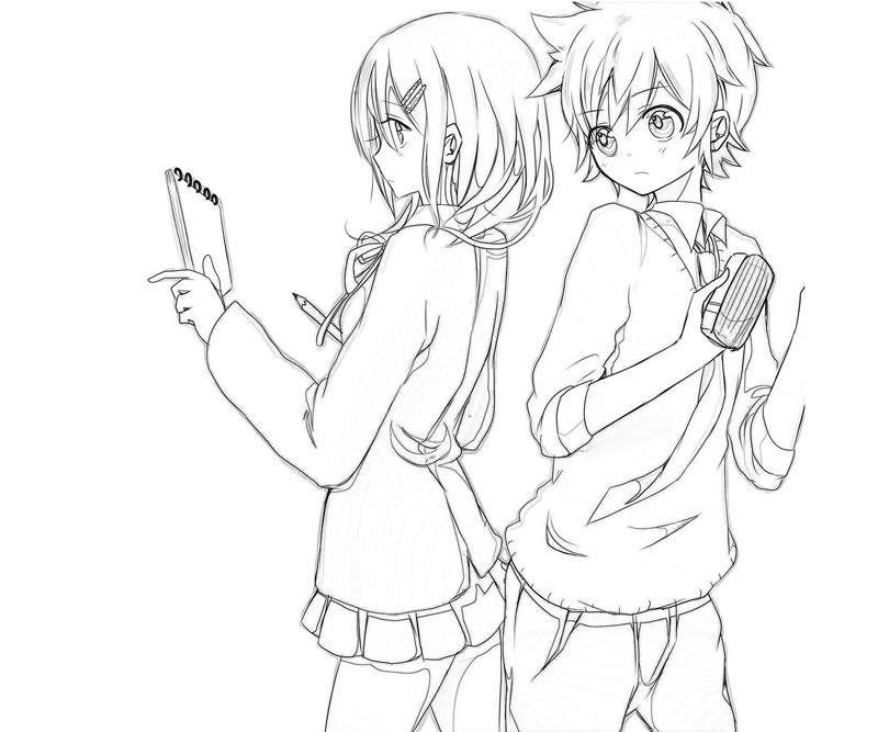 anime couple coloring pages to print couple by miyakies on deviantart pages print couple to coloring anime