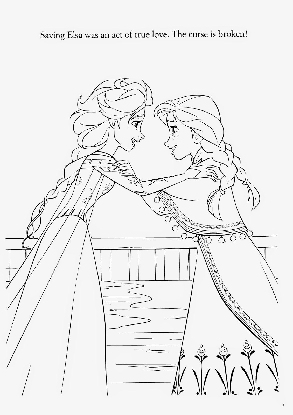 anna and elsa frozen coloring pages frozen anna and elsa playing in a winter wonderland pages frozen and anna elsa coloring