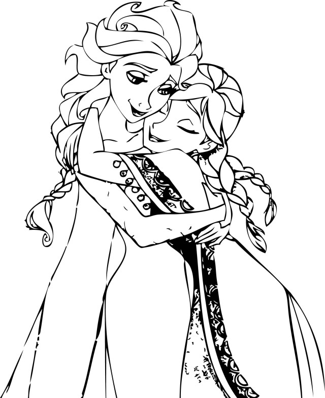 anna and elsa frozen coloring pages pin on ausmalbildkostenloscom frozen anna and pages elsa coloring