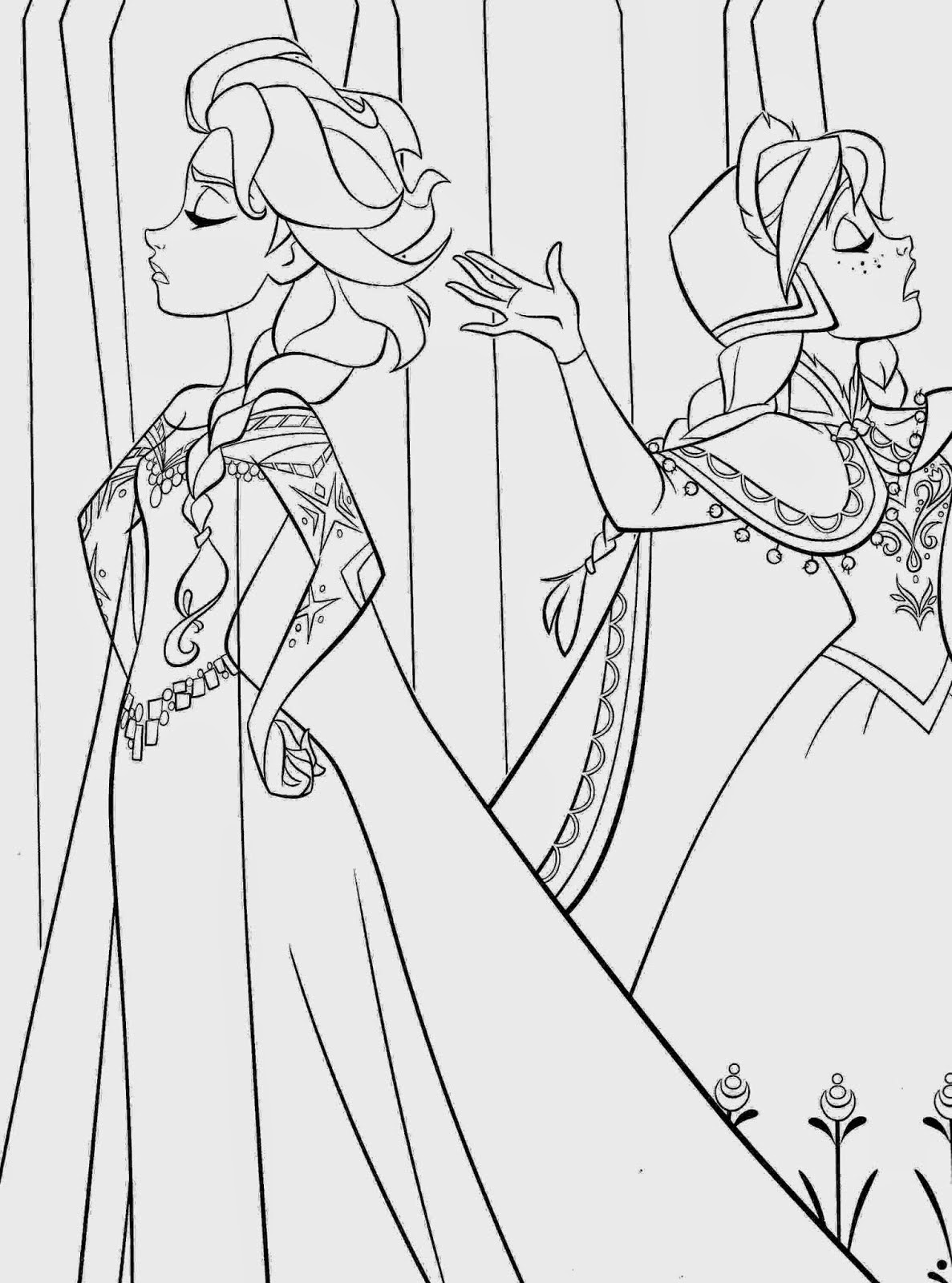 anna and elsa frozen coloring pages pin on shrinky dink elsa anna frozen coloring pages and