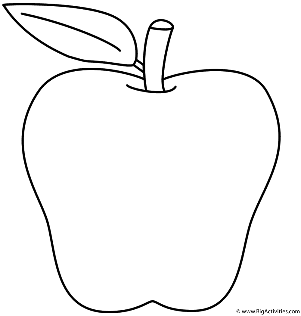 apple coloring picture apple  coloring page back to school apple picture coloring