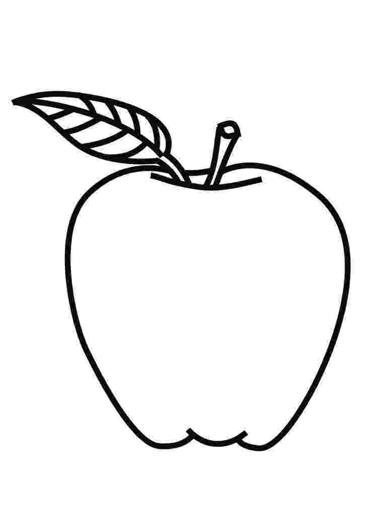 apple coloring picture line drawing of apple at getdrawingscom free for picture apple coloring