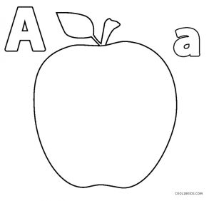 apple colouring images clip art basic words apple 1 bw unlabeled i abcteach apple colouring images