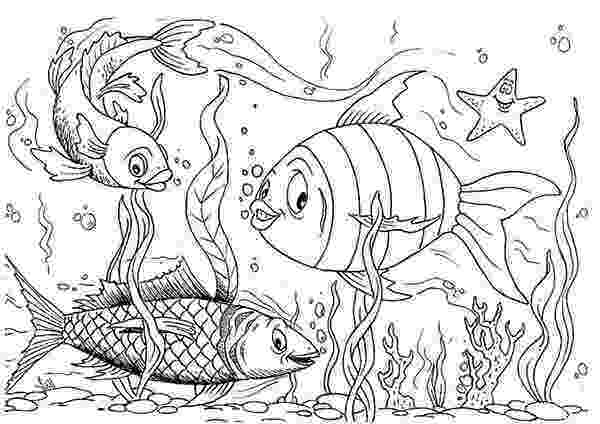 aquarium coloring pages happy fishes in fish tank coloring page netart pages aquarium coloring