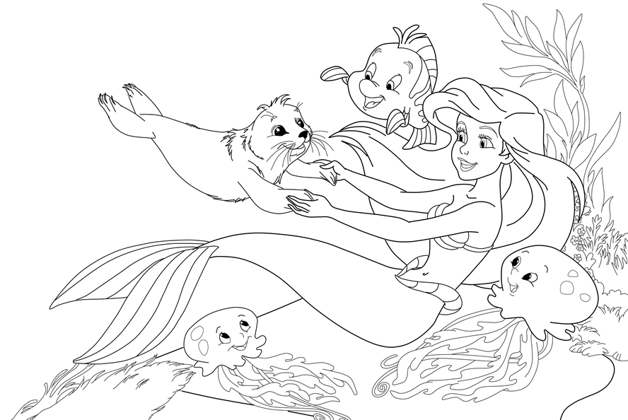 ariel little mermaid coloring pages ariel the little mermaid coloring pages gtgt disney coloring ariel mermaid pages little coloring