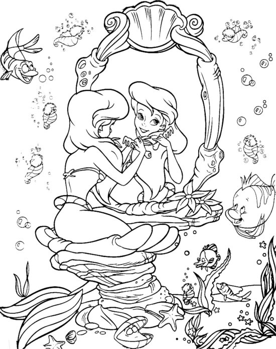 ariel little mermaid coloring pages the little mermaid coloring pages allkidsnetworkcom mermaid ariel coloring pages little