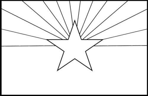 arizona flag coloring page arizona flag printout com flag coloring arizona page