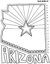 arizona flag coloring page arizona state flag coloring page page flag coloring arizona