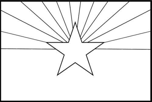 arizona flag coloring page large printable arizona state flag to color from arizona flag page coloring