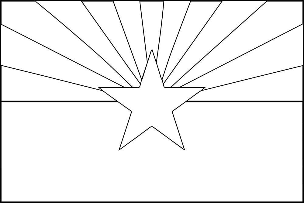 arizona flag coloring page state flag coloring book page flag coloring pages coloring page flag arizona