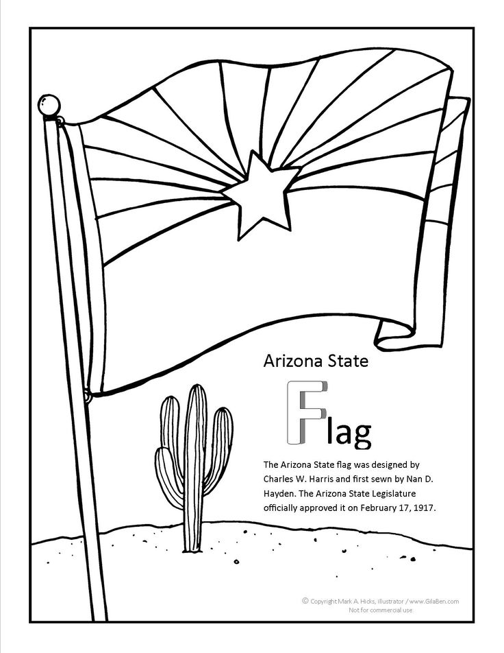 arizona flag coloring page state flag coloring book page social studies pinterest coloring flag page arizona