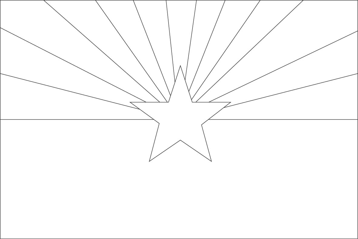 arizona flag coloring page state flag facts coloring sheet for quotstate of the week flag page arizona coloring