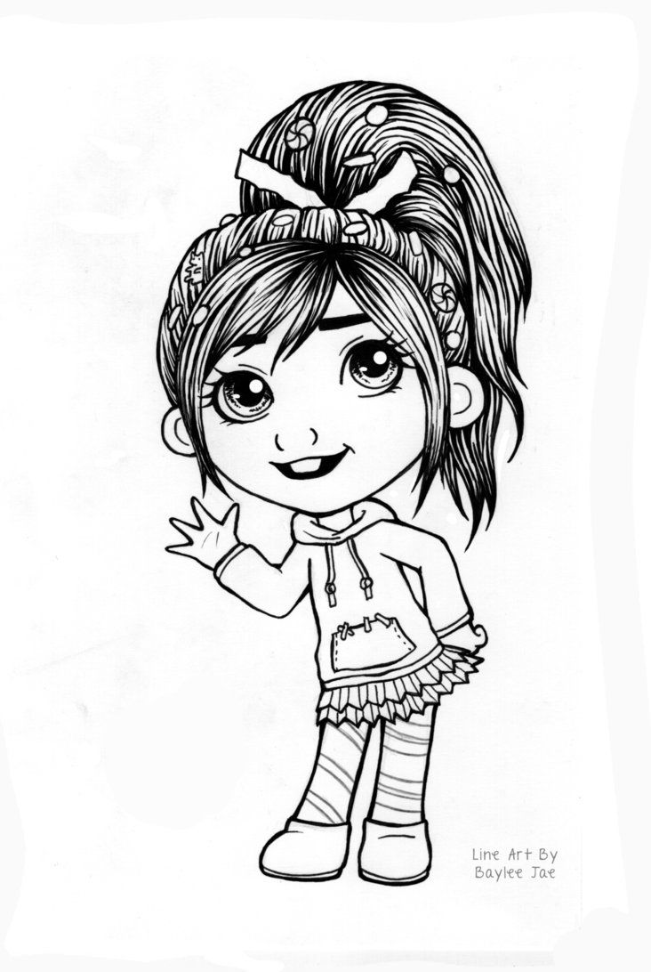 art pictures to color free colouring page vanellope by baylee jae on to pictures art color