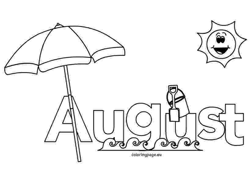 august coloring pages august calendar month coloring page august coloring pages