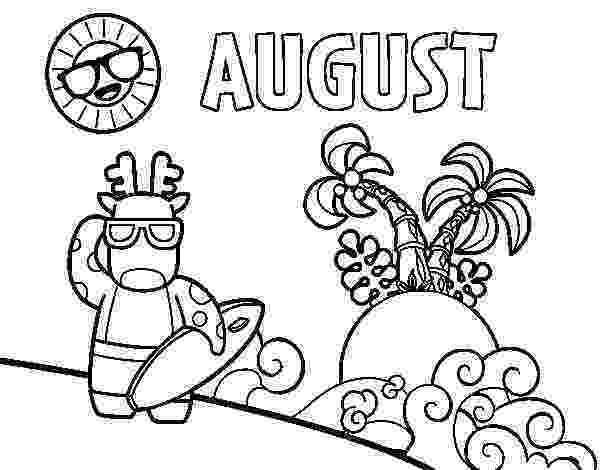 august coloring pages august coloring pages for kids stock illustration coloring august pages