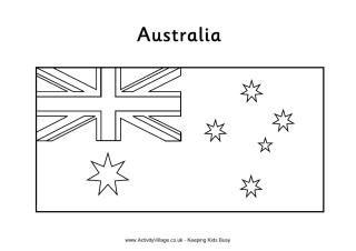 australian flag to colour a fun collection of australian themed colouring pages to to australian colour flag