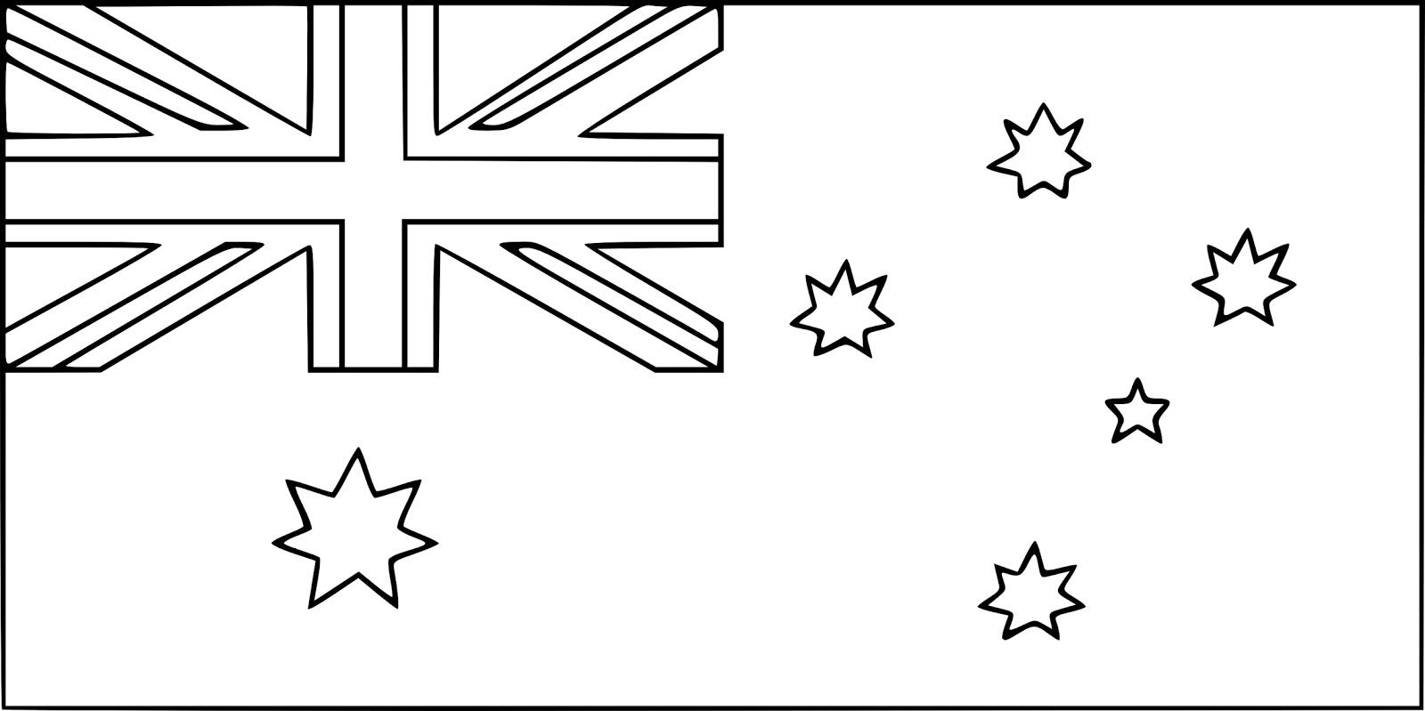 australian flag to colour australia coloring page flag coloring pages coloring to colour australian flag