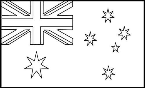 australian flag to colour australia coloring pages flag coloring pages pinterest australian flag colour to