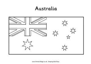 australian flag to colour australian flag coloring page free printable coloring australian to flag colour