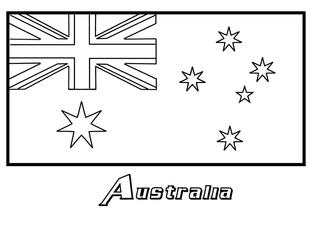 australian flag to colour australian flag colouring page australia australian australian colour flag to