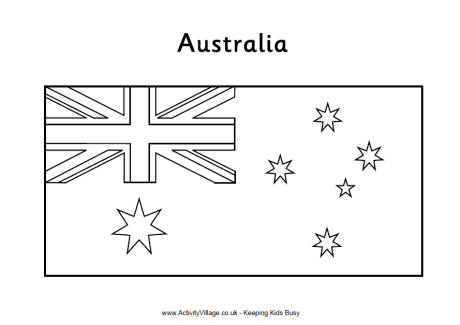 australian flag to colour colouring book of flags australasia and the south pacific flag australian to colour