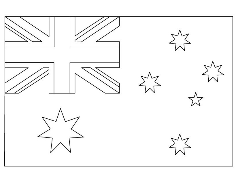 australian flag to colour flags free to color for kids flags kids coloring pages colour flag to australian