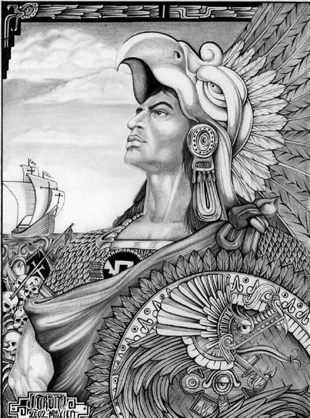 aztec art 30 the number four quadriformisratio aztec art