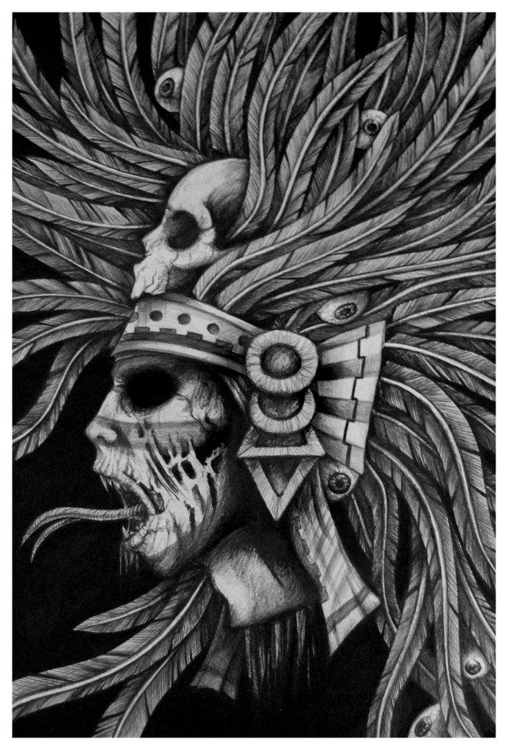 aztec art quottezcatlipocaquot by martina mrtnljmn art aztec