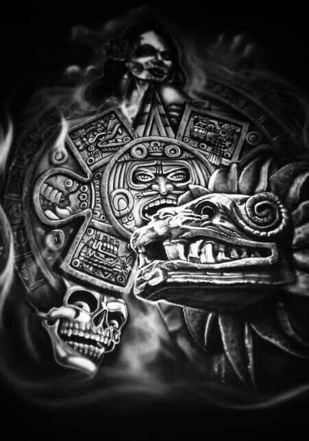 aztec art the doodles designs and art of christopher burdett aztec art