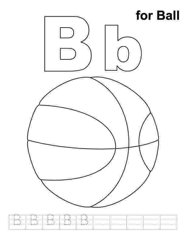 b for ball coloring page b for ball coloring page with handwriting practice for coloring b ball page