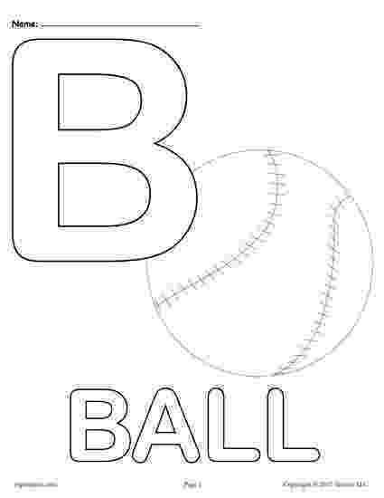 b for ball coloring page letter b coloring pages getcoloringpagescom coloring ball b page for