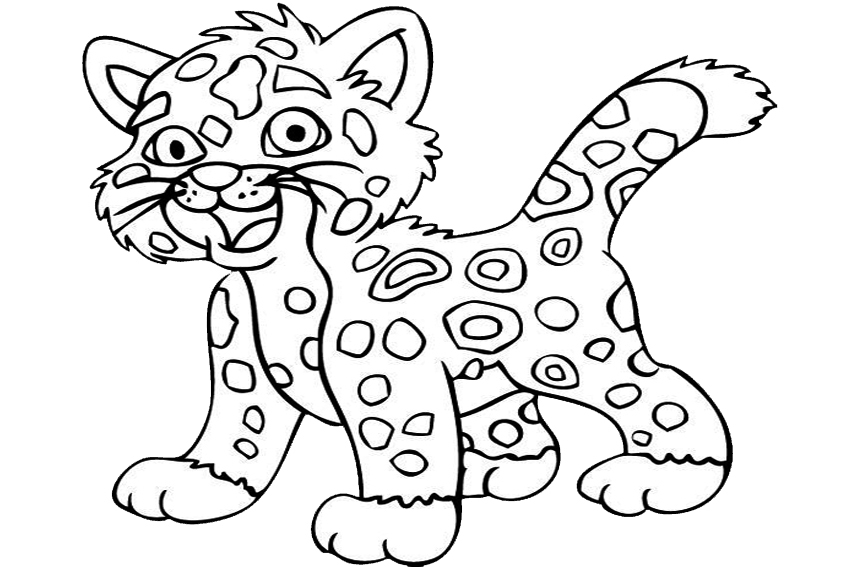 baby jaguar coloring pages go diego 89 dessins animés coloriages à imprimer coloring jaguar baby pages