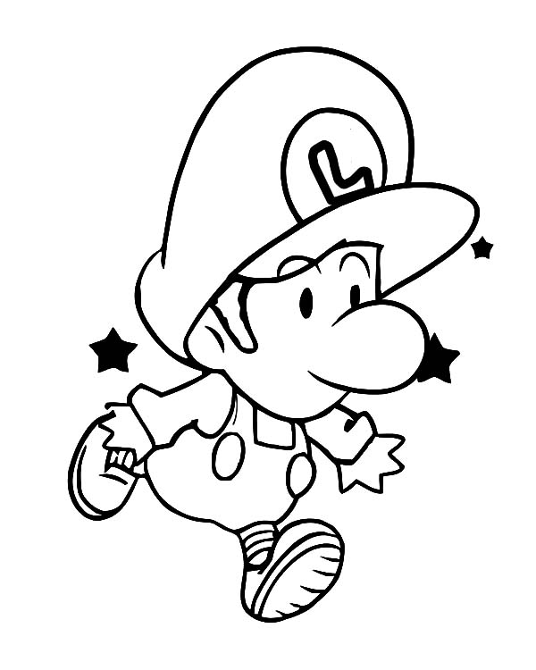 baby luigi pictures baby luigi coloring pages coloring pages super mario luigi baby pictures