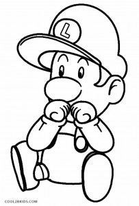 baby luigi pictures get this baby luigi in mario coloring pages to print 9nf62 baby pictures luigi