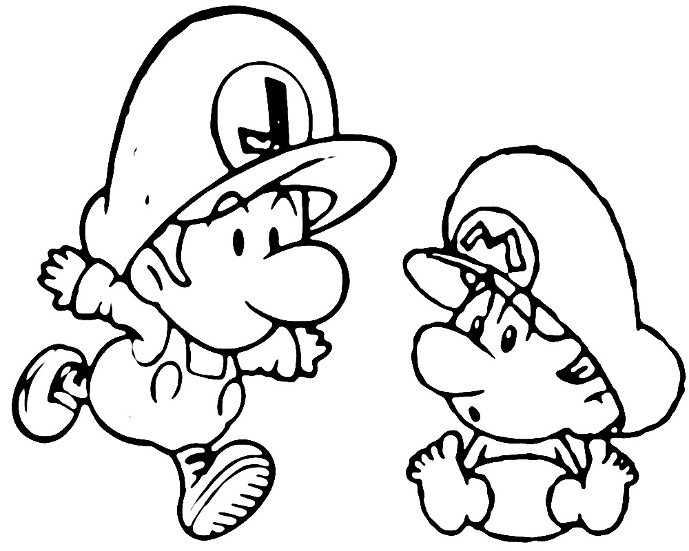 baby luigi pictures worksheets of mario and luigin for kids 2013 coloring point luigi pictures baby