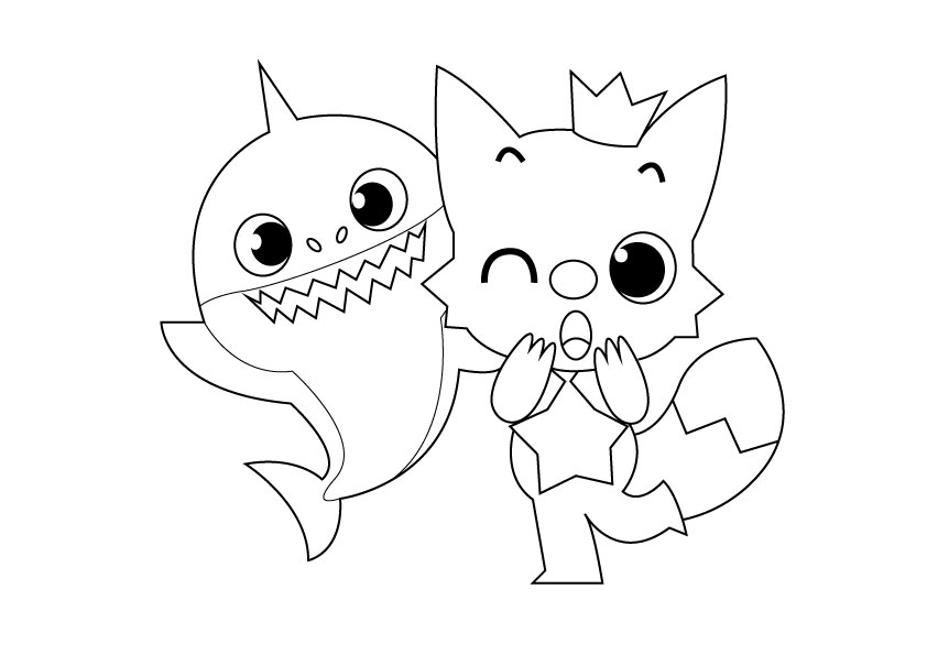 baby shark coloring page baby shark coloring pages for kids sketch coloring page shark coloring baby page