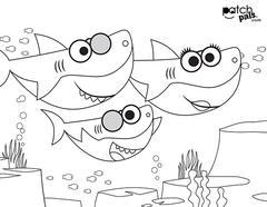 baby shark coloring page baby shark coloring pages getcoloringpagescom coloring baby page shark