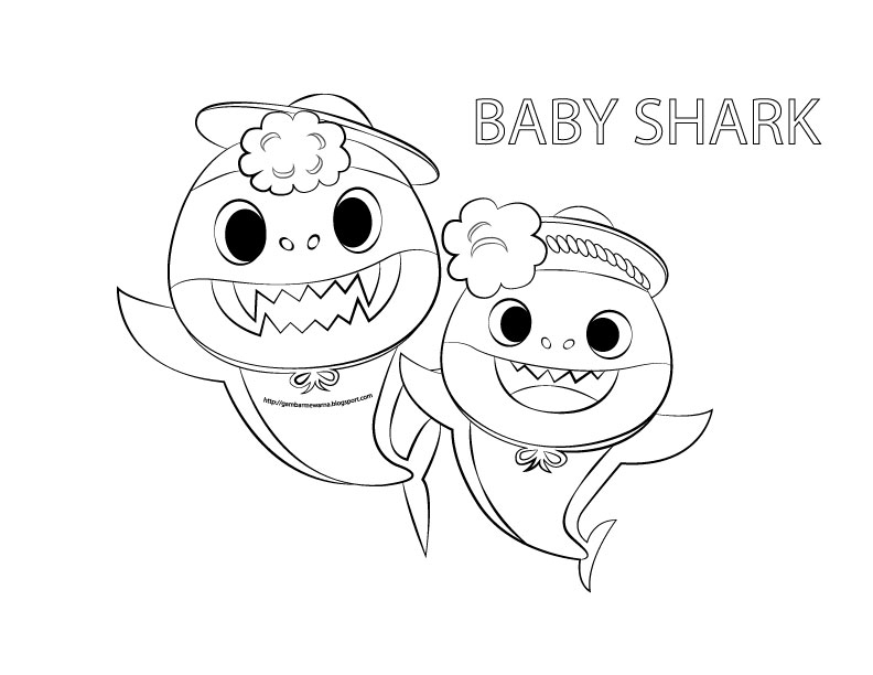 baby shark coloring page best baby shark pages coloring pages otvod page baby coloring shark