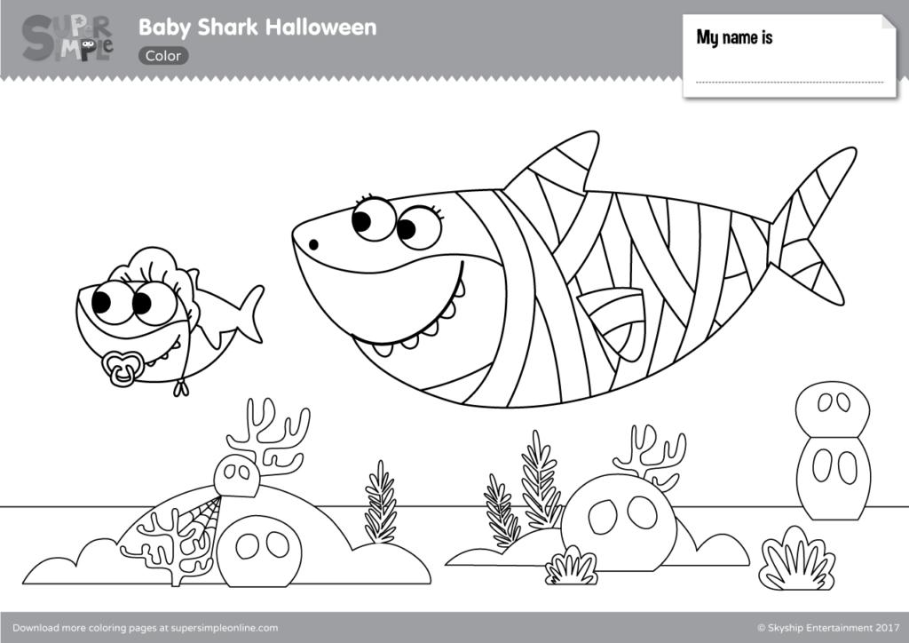 baby shark coloring page gambar mewarna baby shark gambar mewarna page baby coloring shark
