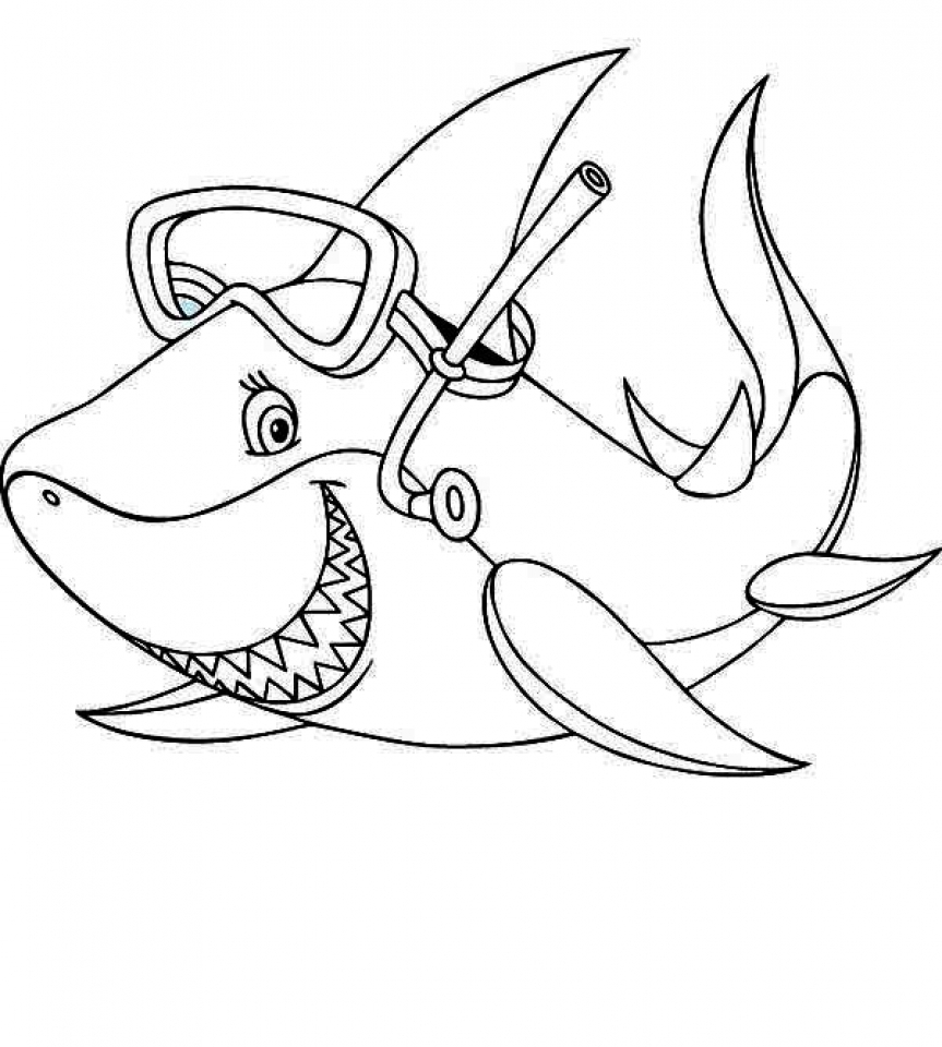 baby shark coloring page get this baby shark coloring pages 31672 baby shark page coloring