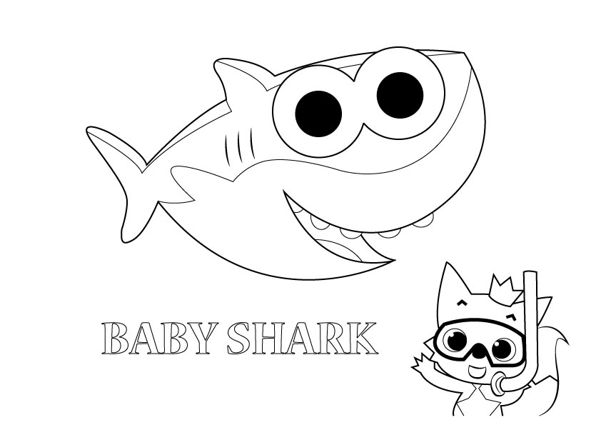 baby shark coloring page pin by idamae on baby shark in 2019 baby shark shark coloring shark page baby