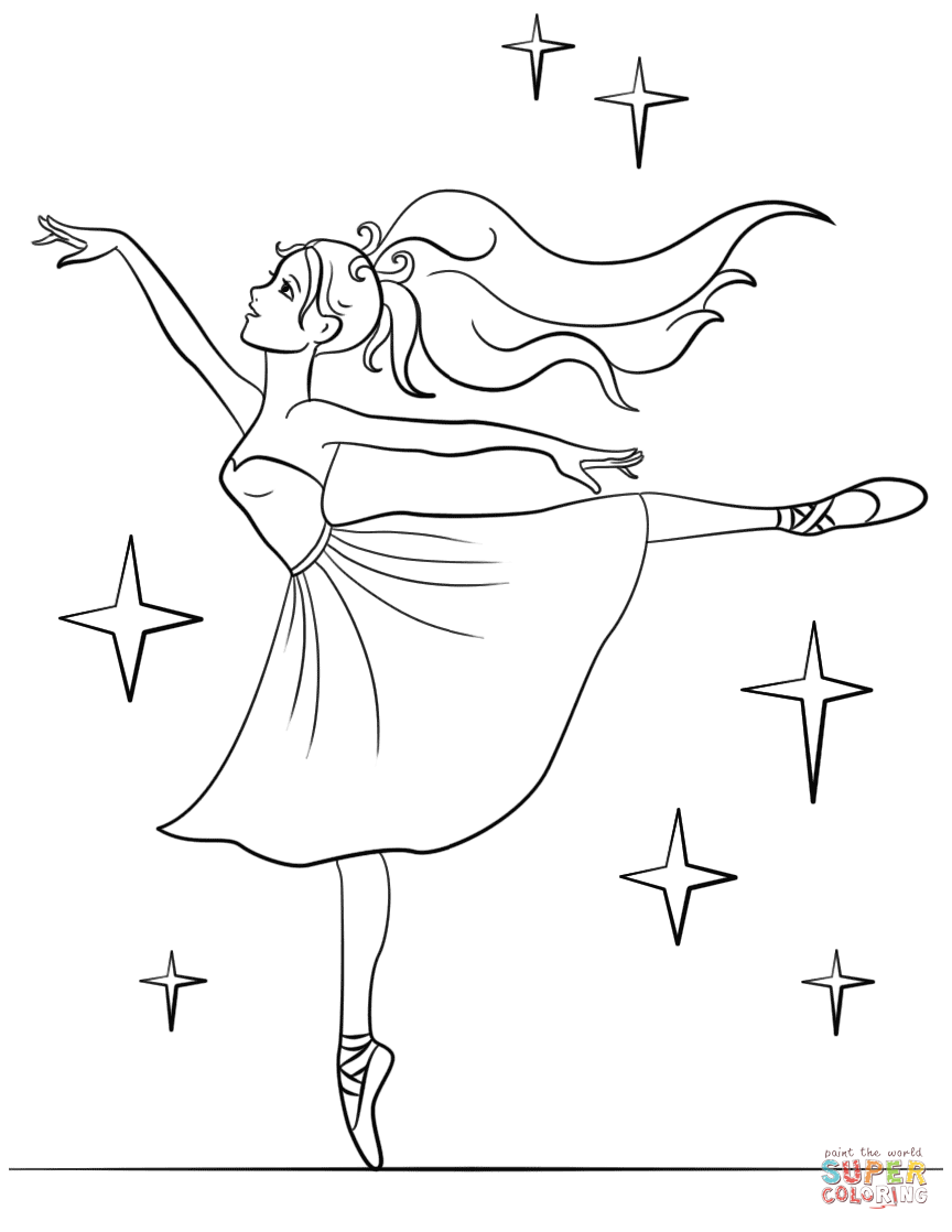 ballerina color beautiful ballerina coloring page free printable ballerina color