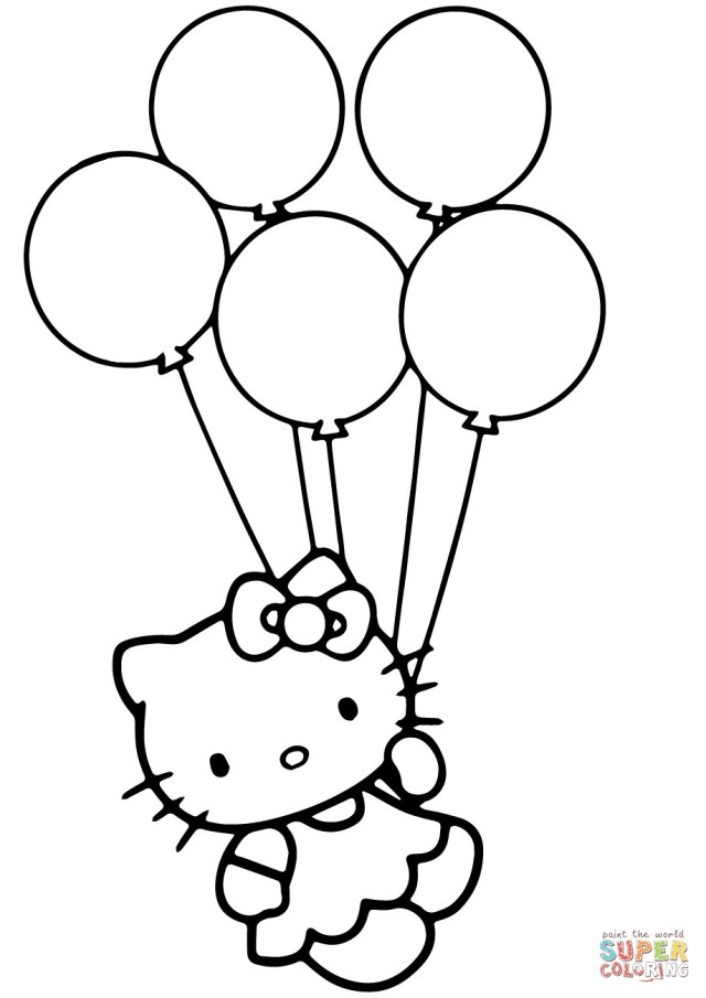 balloons to color 23 pretty picture of balloon coloring pages birijuscom balloons color to