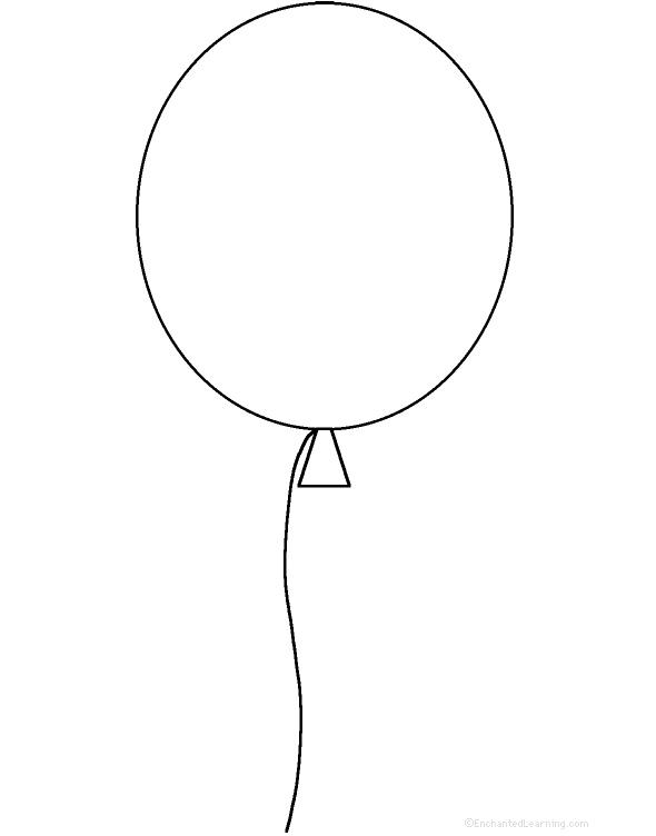 balloons to color adjectives describing a balloon printable worksheet balloons color to