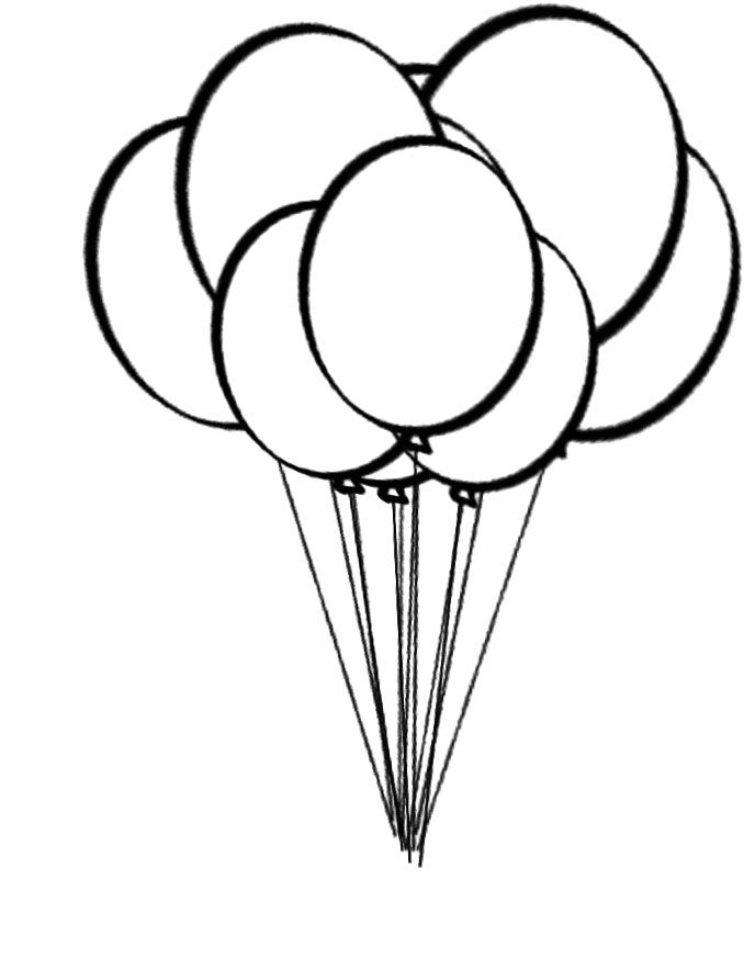 balloons to color coloring objects balloons rainbow and notebook galerry to color balloons